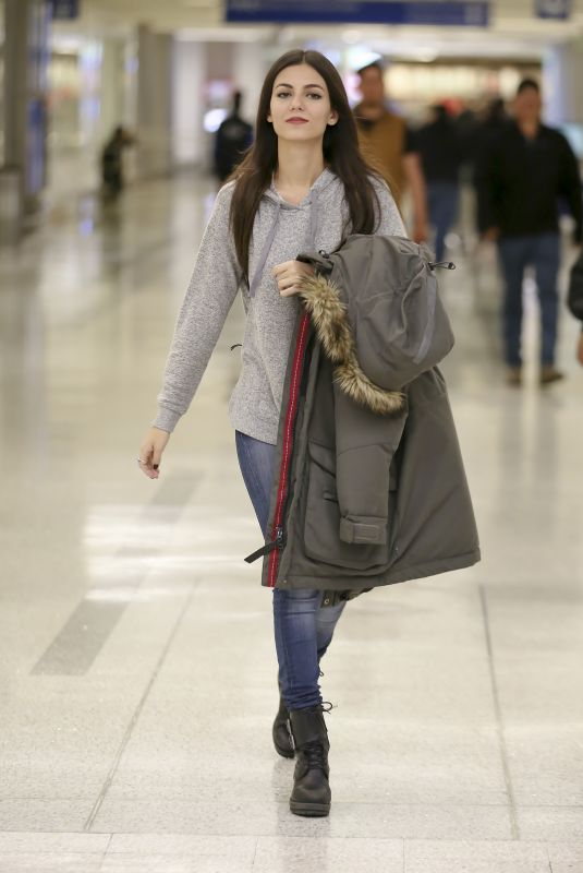 VICTORIA JUSTICE at LAX Airport in Los Angeles 11/30/2017