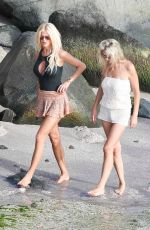VICTORIA SILVSTEDT at a Beach in St. Barts 12/30/2017