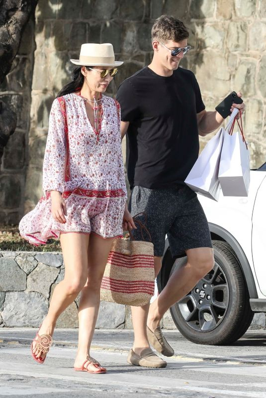 WENDI DENG MURDOCH and Bertold Zahoran Out in St. Barth Aboard Roman Abramovich