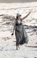 WENDI DENG Out at a Beach in Saint Barthelemy 12/26/2017