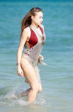 XENIA TCHOUMITCHEVA in Swimsuit at a Beach in Miami 12/08/2017