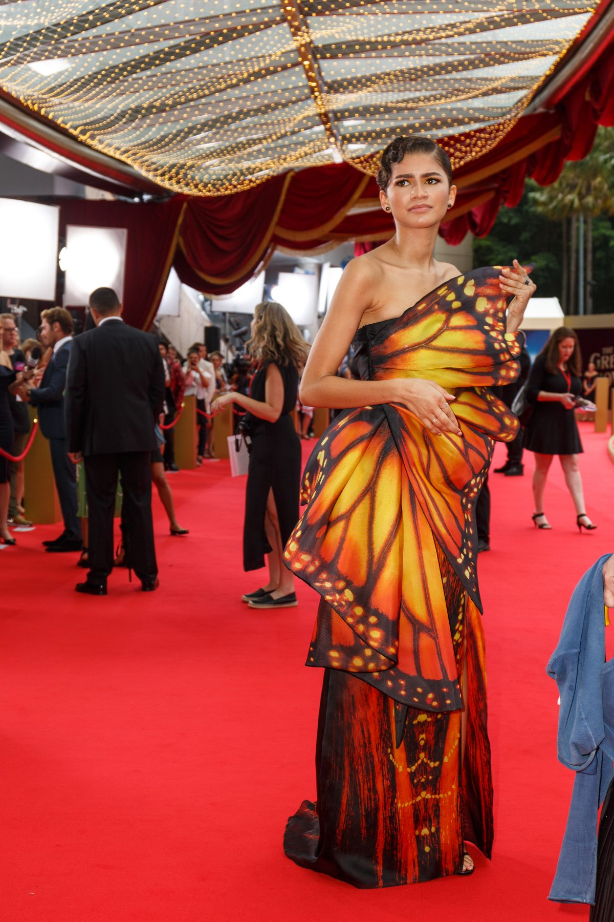 zendaya coleman at the greatest showman premiere in sydney