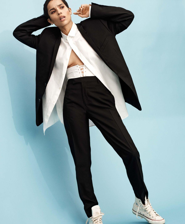 Zoe Kravitz Fashion: ZOE KRAVITZ For Elle Magazine, January 2018