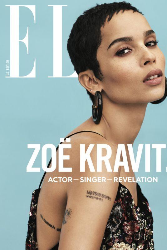 ZOE KRAVITZ for Elle Magazine, January 2018