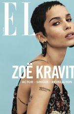 ZOE KRAVITZ in Elle Magazine, January 2018