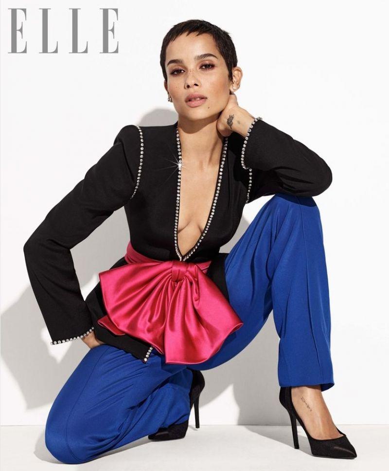 Zoe Kravitz Uk: ZOE KRAVITZ In Elle Magazine, January 2018
