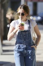ZOEY DEUTCH Out for a Juice to Go in Los Angeles 12/28/2017
