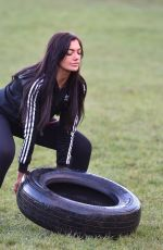 ABBIE HOLBORN Workout at a Park in Middlesbrough 01/06/2018