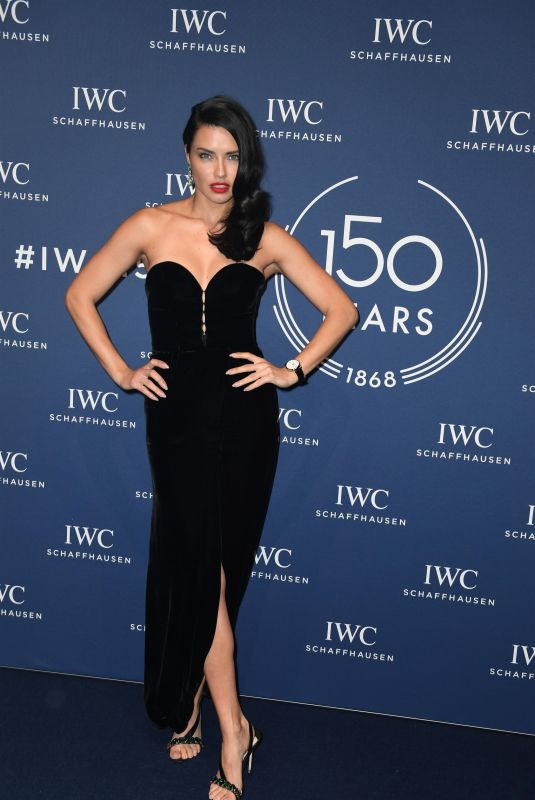 ADRIANA LIMA at IWC Schaffhausen Gala at SIHH 2018 in Geneva 01/16/2018