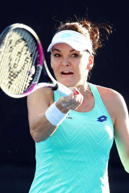 AGNIESZKA RADWANSKA at Australian Open Tennis Tournament in Melbourne 01/16/2018