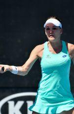 AGNIESZKA RADWANSKA at Australian Open Tennis Tournament in Melbourne 01/18/2018