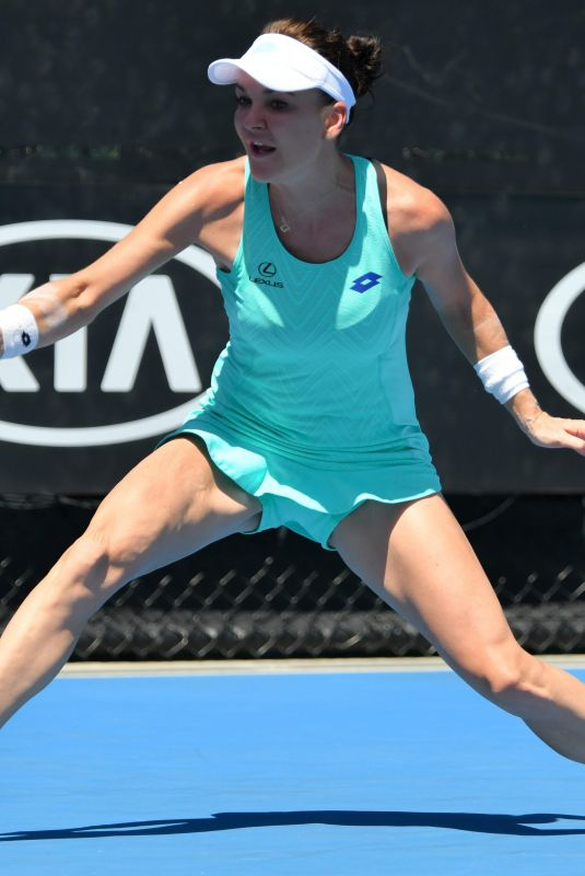 AGNIESZKA RADWANSKA at Australian Open Tennis Tournament in Melbourne 01/18/2018