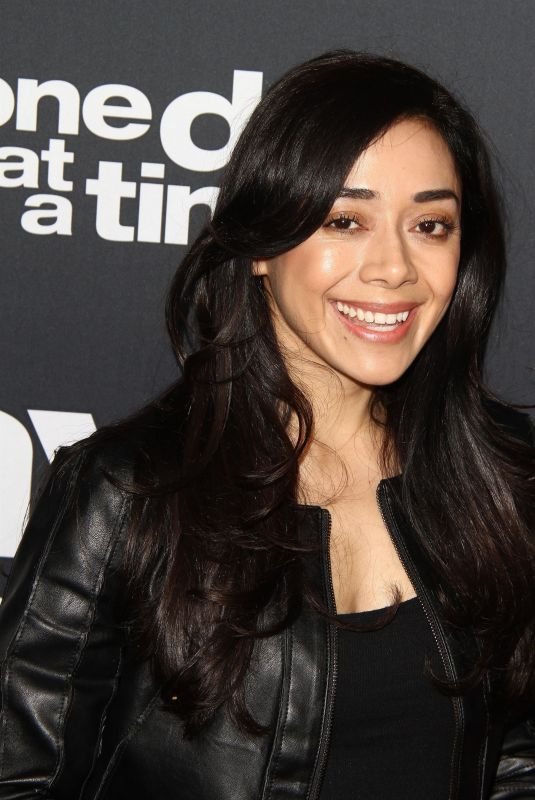 AIMEE GARCIA at One Day at a Time Season 2 Premiere in Los Angeles 01/24/2018