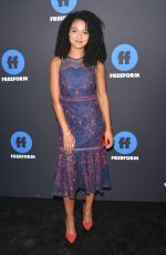 AISHA DEE at 2018 Freeform Summit in Hollywood 01/18/2018