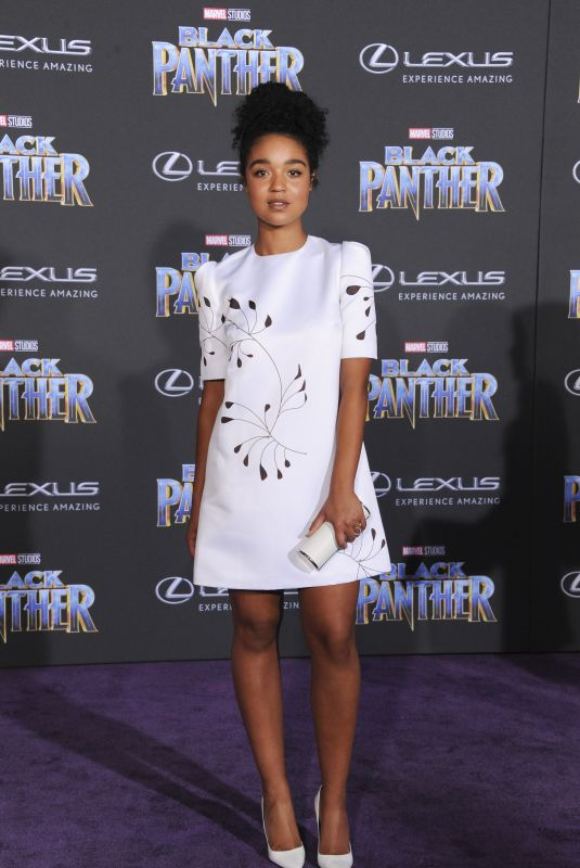 AISHA DEE at Black Panther Premiere in Hollywood 01/29/2018
