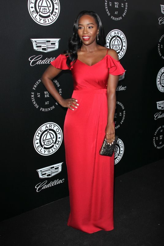 AJA NAOMI KING at The Art of Elysium Heaven in Los Angeles 01/06/2018