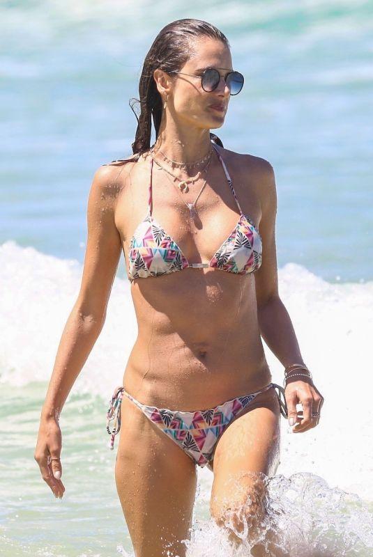 ALESSANDRA AMBROSIO in Bikini at a Beach in Florianopolis 01/03/2018