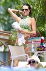 ALESSANDRA AMBROSIO in Bikini on the Beach in Florianopolis 01/07/2018