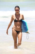 ALESSANDRA AMBROSIO in Bikini on the Beach in Florianopolis 01/09/2018