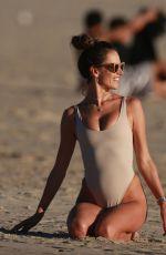 ALESSANDRA AMBROSIO in Bikini on the Beach in Malibu 01/28/2018