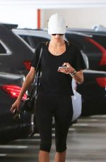 ALESSANDRA AMBROSIO in Leggings Arrives at a Gym in Brentwood 01/30/2018