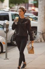 ALESSANDRA AMBROSIO Leaves Urth Cafe in Beverly Hills 01/23/2018