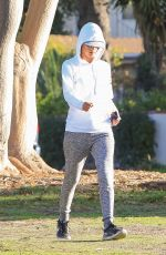 ALESSANDRA AMBROSIO Out Jogging in Los Angeles 01/23/2018