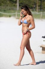 ALESSIA TEDESCHI in Bikini at a Beach in Miami 01/01/2018