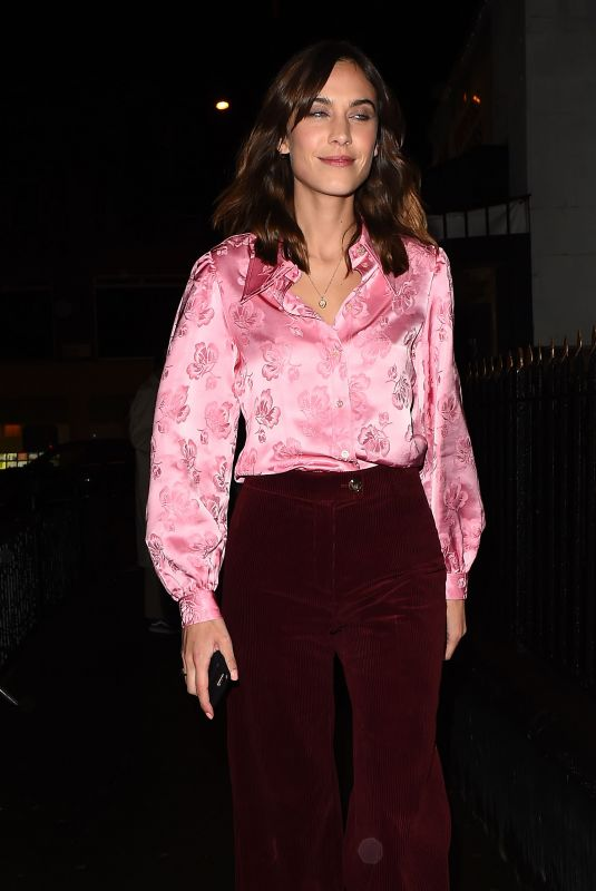 ALEXA CHUNG Arrives at Her Clothing Range Collection Launch in London 01/30/2018