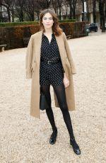 ALEXA CHUNG at Cristian Dior Show at Spring/Summer 2018 Haute Couture Fashion Week in Paris 01/23/2018