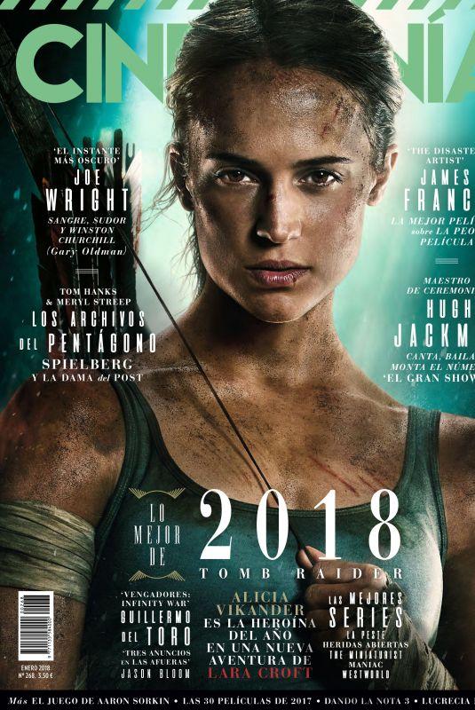 ALICIA VIKANDER in Cinemania Magazine,January 2018