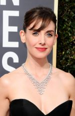 ALISON BRIE at 75th Annual Golden Globe Awards in Beverly Hills 01/07/2018