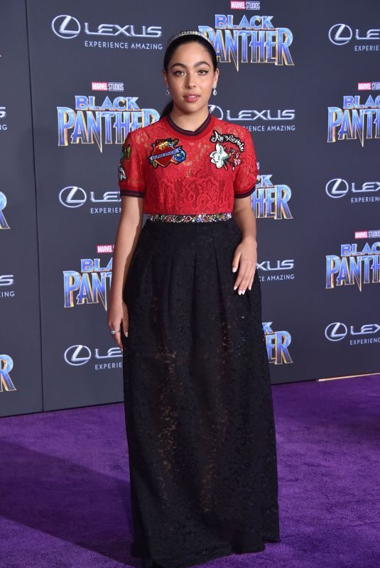 ALLEGRA ACOSTA at Black Panther Premiere in Hollywood 01/29/2018