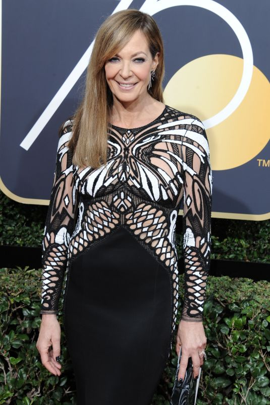 ALLISON JANNEY at 75th Annual Golden Globe Awards in Beverly Hills 01/07/2018
