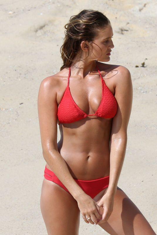 ALYCE CRAWFORD in Bikini on the Set of a Photoshoot at Bondi Beach 01/23/2018