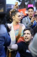 ALYSSA MILANO at a Protest in Los Angeles 01/04/2018
