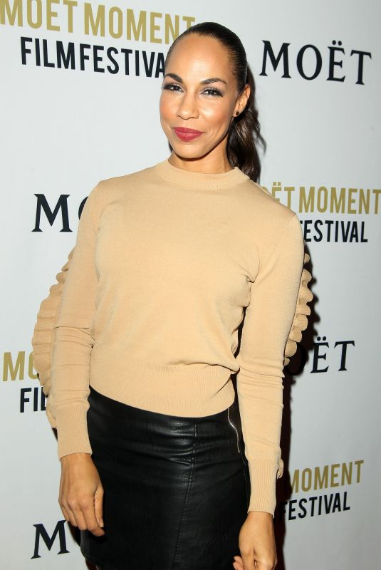 AMANDA BRUGEL at 3rd Annual Moet Moment Film Festival Golden Globes Week in Los Angeles 01/05/2018