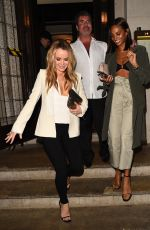AMANDA HOLDEN and ALESHA DIXON Night Out in London 01/26/2018