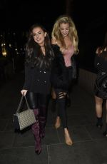 AMBER DAVIES and OLIVIA ATTWOOD Night Out in Manchester 01/13/2018