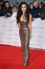 AMBER DAVIES at National Television Awards in London 01/23/2018