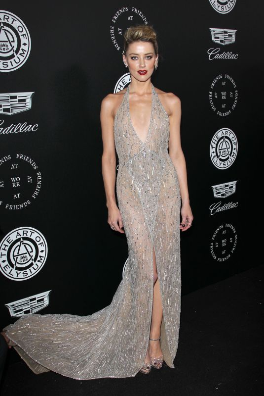 AMBER HEARD at The Art of Elysium Heaven in Los Angeles 01/06/2018