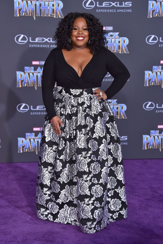 AMBER RILEY at Black Panther Premiere in Hollywood 01/29/2018