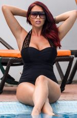 AMY CHILDS in Swimsuit at a Pool in Cape Verde 01/05/2018