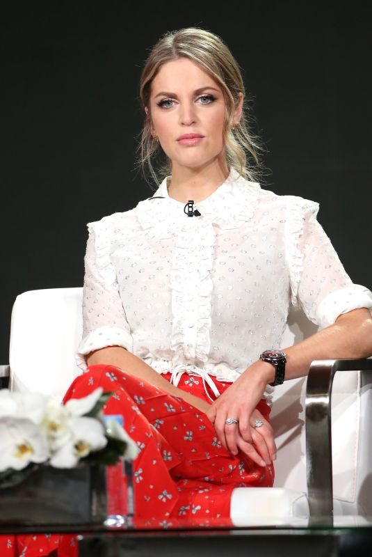 AMY HUBERMAN at Striking Out TV Show Panel at TCA Winter Press Tour in Los Angeles 01/15/2018