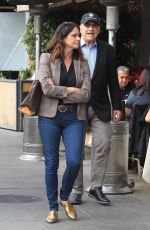 AMY LANDECKER and John Records Landecker Out for Lunch in Beverly Hills 01/02/2018