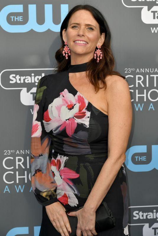 AMY LANDECKER at 2018 Critics' Choice Awards in Santa Monica 01/11/2018