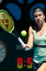 ANASTASIJA SEVASTOVA at Australian Open Tennis Tournament in Melbourne 01/18/2018