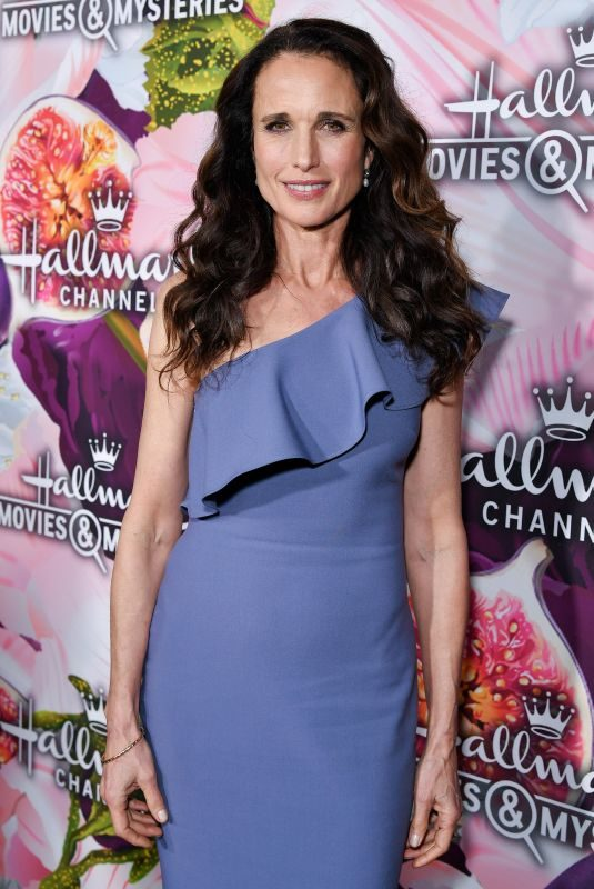 ANDIE MACDOWELL at Hallmark Channel All-star Party in Los Angeles 01/13/2018