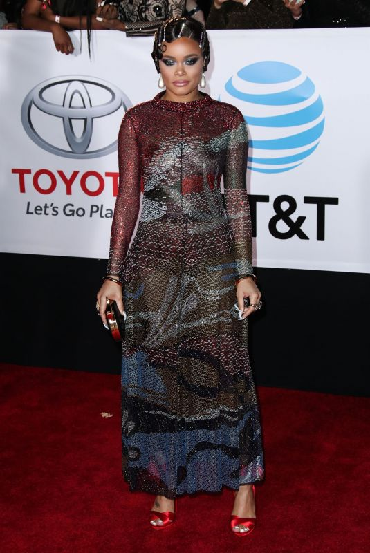 ANDRA DAY at 49th Naacp Image Awards in Pasadena 01/14/2018