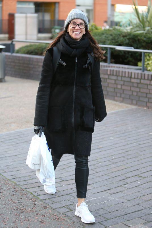 ANDREA MCLEAN Arrives at ITV Studios in London 01/30/2018